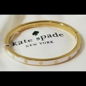 "Kate Spade ""Spot the Spade"" Enamel Bangle Bracelet"